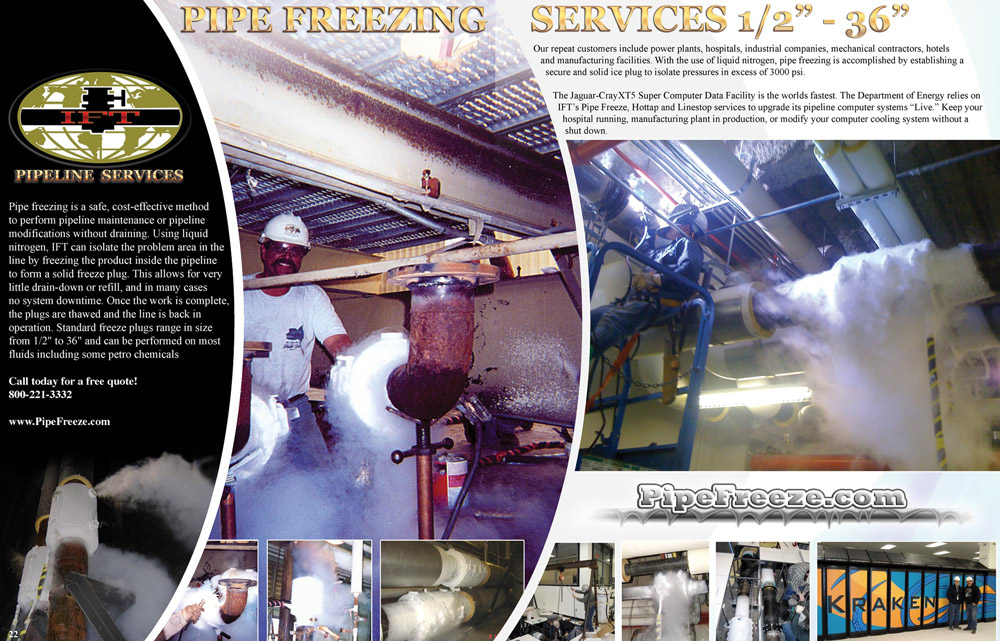 IFT Pipe Freeze Plug Services
