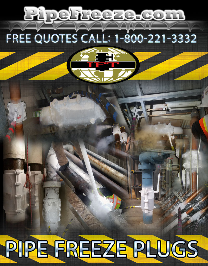 Indoor Pipe Freezing Services | PipeFreeze Services | Services