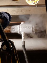 "3"" solid ice plug pipe freeze"